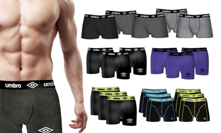 Lot de 12 boxers Umbro en coton, 6 assortiments différents