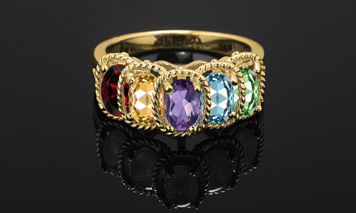 Up To 73% Off on Gemstone Ring by Gemma Luna | Groupon Goods