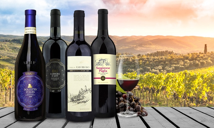 Barclays Wine: Four Bottles of Italy's Cult Wines with Shipping Included from Barclays Wine (Up to 58% Off)