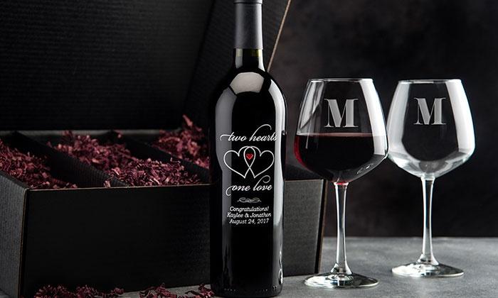 Up To 63 Off On Wine Bottle Romance Gift Set Groupon Goods