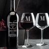 Personalized Wine Bottle & Glass Romance Gift Set (4-Piece)
