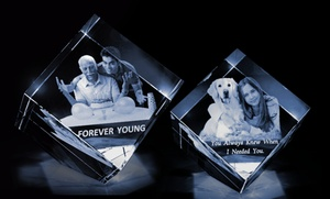 Up to 62% Off 3D Photo Crystal from 3D Crystal USA