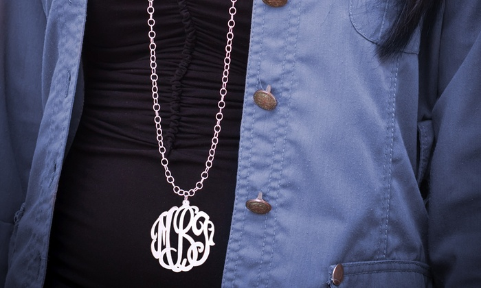 MonogramHub: $30 for a Necklace with 2-Inch Monogram and 36-Inch Chain Plated in Sterling Silver from MonogramHub ($130 Value)
