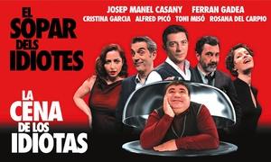 """Teatre Talia: Entrada para """"La cena de los idiotas"""" en castellano o valenciano del 14 mayo al 5 de junio por 11 € en Teatre Talia"""