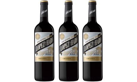 12 Botellas de vino hacienda López de Haro crianza Rioja + un magnum con envío gratuito Oferta en Groupon