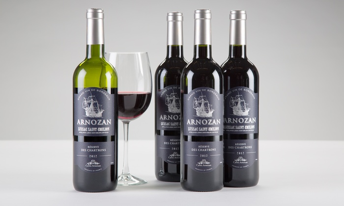 Barclays Wine: $59 for Four Bottles of 2012 Arnozan Reserve Bordeaux with Shipping Included from Barclays Wine ($195.91 Value)