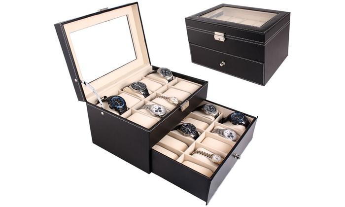 qualité authentique joli design nouvelle qualité jusqu'à 60% Boite montre 6 à 20 emplacements   Groupon
