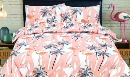 Flamingo Land Reversible Duvet Set