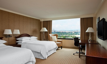 Stay with Daily Self-Parking and In-Room WiFi at 3.5-Star Top-Secret Arlington Hotel. Dates into December.