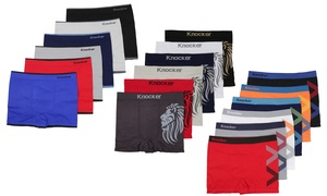 Men's One-Size Seamless Boxer Briefs (6-Pack)