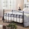 Antiqued Dark Brown Metal Platform Bed
