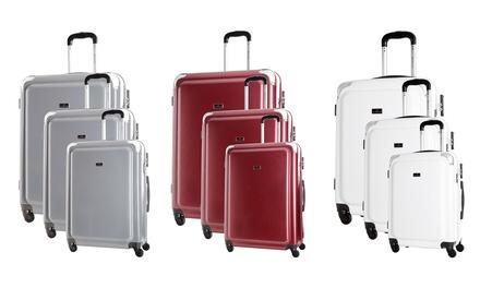 Set 3 valises en PC, 8 roues 360°