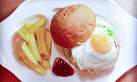Menú Premium burger para 2 o 4 personas con entrante, principal, postre a compartir y bebida desde 19,95 € en Comolocas