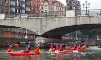 Ruta en kayak o en stand up paddle para 2, 4 o 6 personas desde 14,90 € en Bilbao Kayak