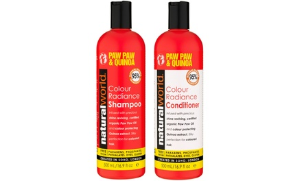One or Two Natural World Shampoo and Conditioner Sets 500ml