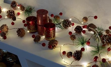 20 luci a LED natalizie