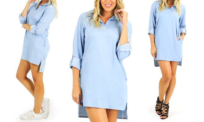 Chambray shirt dress livingsocial for Cuisine you chambray