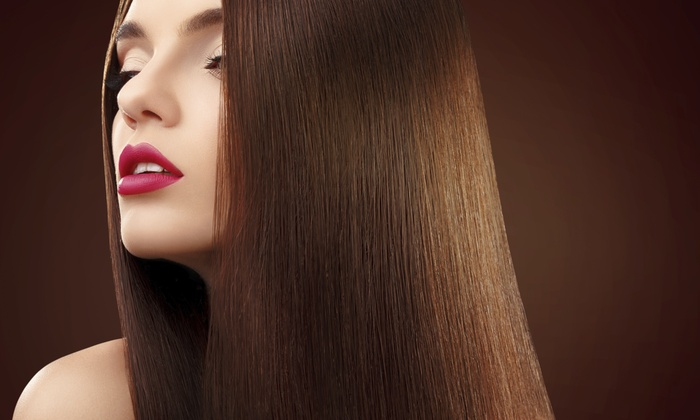Textura Hair Design - Textura Hair Design: Two Haircuts and Straightening Treatments from Textura Hair Design (45% Off)