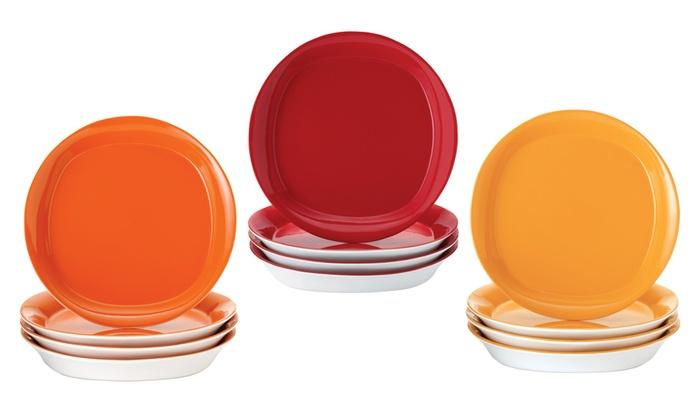 Rachael Ray Dinnerware Round Square Salad Plate Set 4  sc 1 st  Castrophotos & Orange Square Dinnerware Sets - Castrophotos