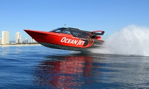 Ocean Jetboating: Ocean Jetboat Ride for One Child ($49) or Adult ($59) with Ocean Jetboating, Main Beach (Up to $79 Value)