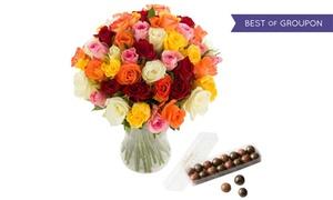 Les fleurs de Nicolas: Bouquet Tutti Frutti avec boîte de chocolats en option avec Les Fleurs de Nicolas dès 24,90 € (jusqu'à 50% de réduction)