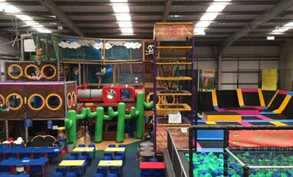 image for 60-Minute Trampoline and 30-Minute Soft Play Access for One or Two at Mister Twister's Wacky World of Fun