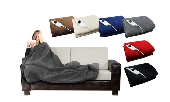 Electric-Heated Blanket in Choice of Colour