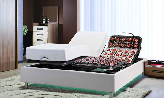 lit lectrique technoluxe led groupon shopping. Black Bedroom Furniture Sets. Home Design Ideas
