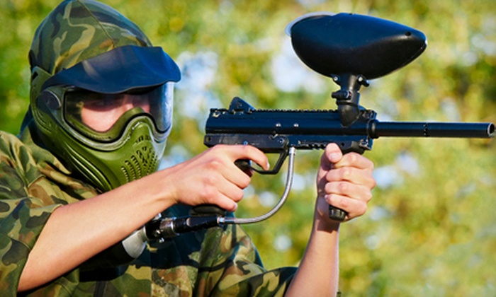 American Paintball Coliseum - Park Hill: All-Day Paintball Outing for Two, Four or Eight at American Paintball Coliseum (Up to 55% Off)