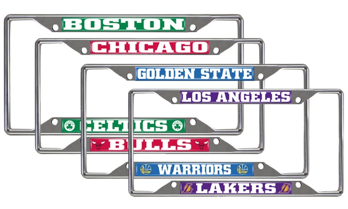 Up To 25% Off on Fanmats NBA License Plate Frame | Groupon Goods