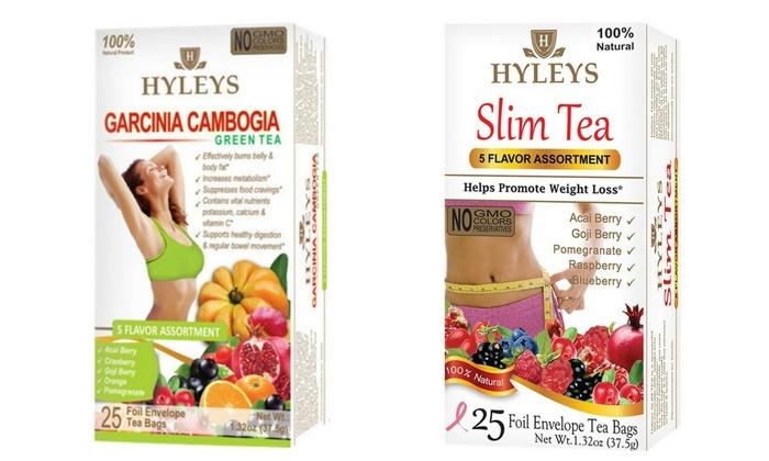 Hyleys Slim And Garcinia Cambogia Weight Loss Tea 2 Pack Groupon