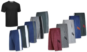 Groupon Exclusive: Men's 5-Pack Dry-Fit Performance Shorts with Tee