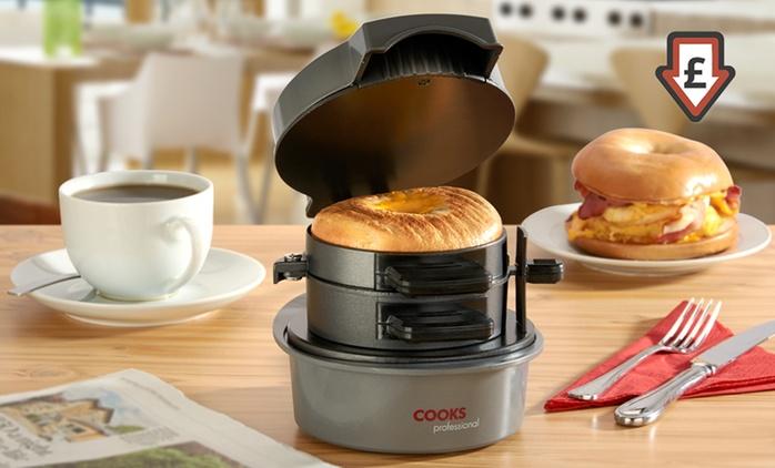 Cooks Professional Breakfast Sandwich Maker for £19.99 (60% Off)