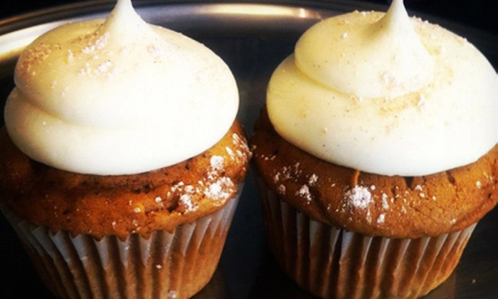 Blue Velvet Cupcakes - Nashville-Davidson metropolitan government (balance): One or Two Dozen Mix-and-Match Cupcakes and Donuts at Blue Velvet Cupcakes (Up to 53% Off)