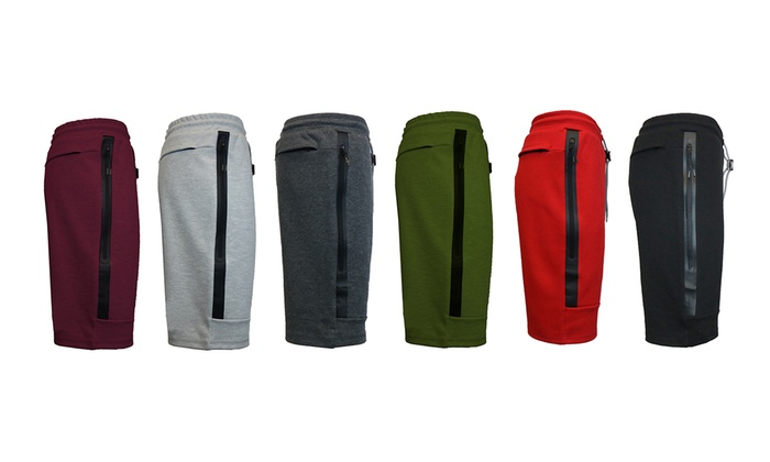 Galaxy By Harvic Men's Tech Fleece Slim-Fit Shorts