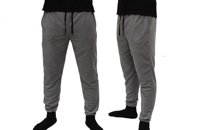 Men S Slim Fit Fleece Pajama Jogger 2 Pack Groupon