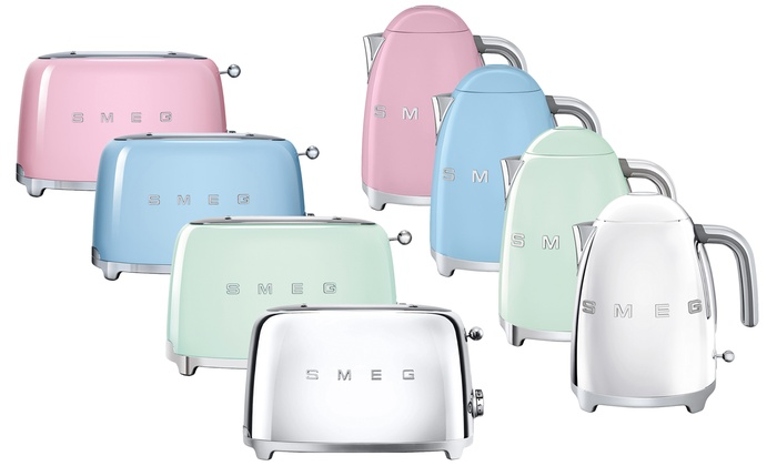 Up To 38 Off Smeg Toaster And Kettle Set Groupon