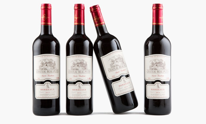 Heartwood & Oak: $49 for Four Bottles of Château Beau-Puits Bordeaux with Shipping from Heartwood & Oak ($155.91 Value)