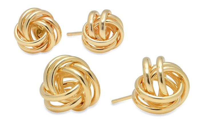 4029c017671 14K Gold Love Knot Earrings in Gift Box by Moricci