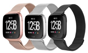 Milanese-Loop Mesh Replacement Band for Fitbit Versa