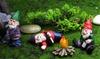 Four-Piece Mini Drunk Garden Gnomes Set