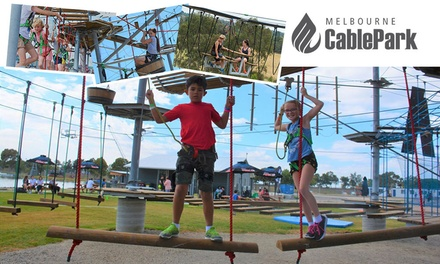 High Ropes Course for Child ($15) or Two Hours for Adult ($29) at Melbourne Cable Park (Up to $49 Value)