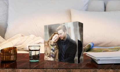 Personalised Acrylic Photo Block in a Choice of Size from Photo Gifts (Up to 83% Off)