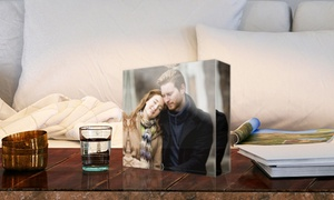 Photo Gifts: Personalised Acrylic Photo Block in a Choice of Size from Photo Gifts (Up to 83% Off)