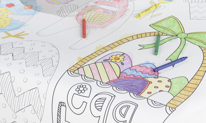 Up To 30% Off on Easter Coloring Table Cover | Groupon Goods