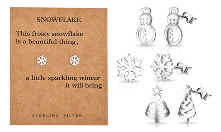 Philip Jones Christmas Earrings