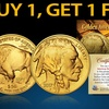 Buy 1 Get 1 Free: 24K Gold-Plated $50 Buffalo Indian Tribute Coin