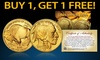 Buy 1 Get 1 Free: 24K Gold-Plated $50 Buffalo Indian Tribute Coin: Buy 1 Get 1 Free: 24K Gold-Plated $50 Buffalo Indian Tribute Coin
