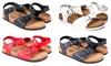 Seranoma Women's Open Toe Ankle Strap Cork Flat Sandals