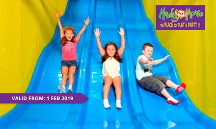 Monkey Mania Kids Pass: One $6, Three $17 or Ten Visits $49 at Monkey Mania, Multiple Locations Up to $150 Value